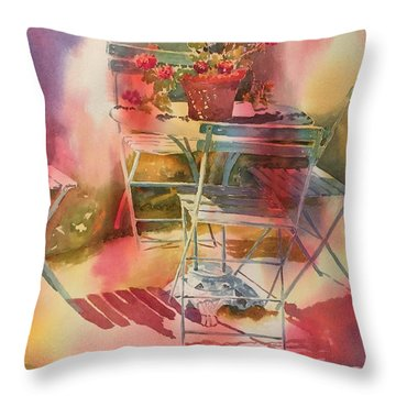 Afternoon Light Giverny, France Throw Pillow