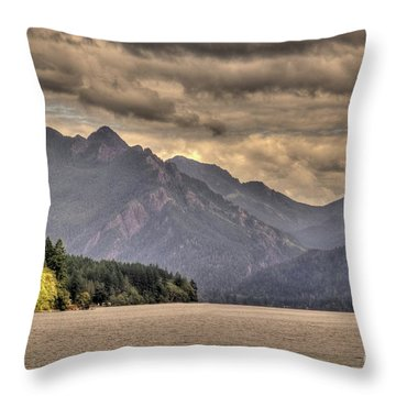 Afternoon Mountain View Throw Pillow