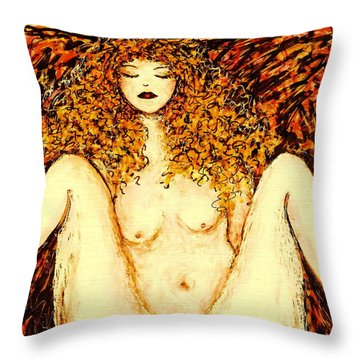 Afternoon Nap Throw Pillow by Natalie Holland