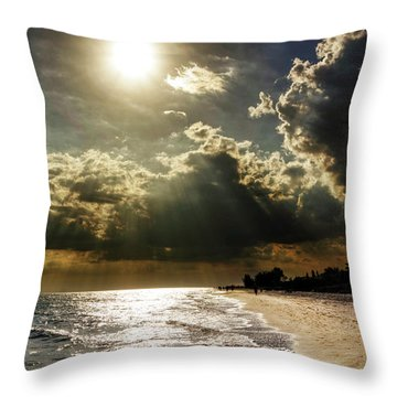 Throw Pillow featuring the photograph Afternoon On Sanibel Island by Chrystal Mimbs
