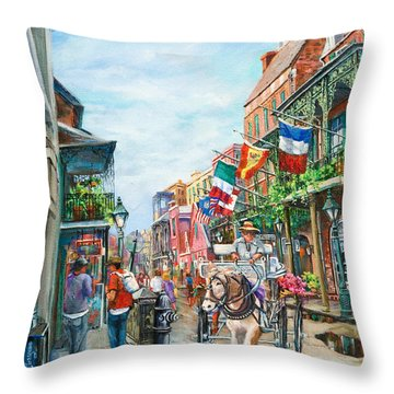 Afternoon On St. Ann Throw Pillow