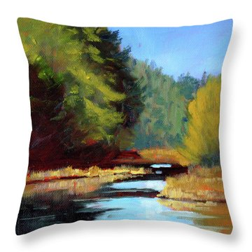Afternoon On The River Throw Pillow