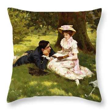 Afternoon Pastimes Throw Pillow