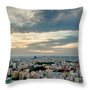 Afternoon Saigon Throw Pillow