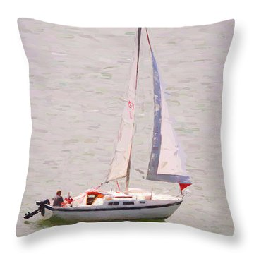 Throw Pillow featuring the photograph Afternoon Sail by James BO Insogna