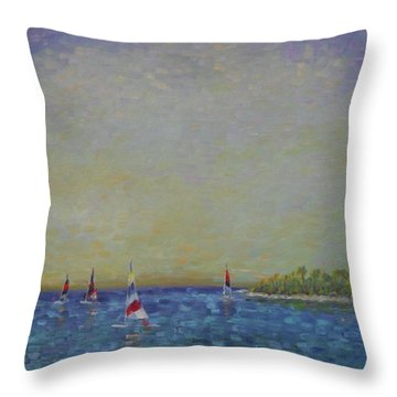 Afternoon Sailing Throw Pillow