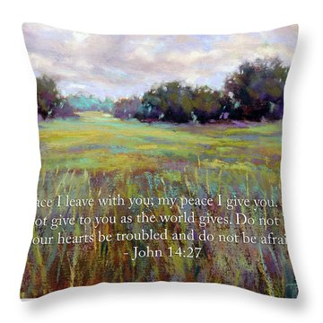 Afternoon Serenity With Bible Verse Throw Pillow