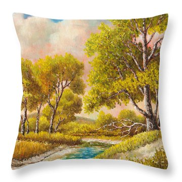 Afternoon Shade Throw Pillow