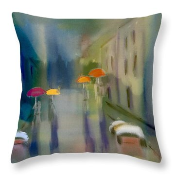 Afternoon Shower In Old San Juan Throw Pillow