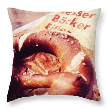 German Pretzel Throw Pillow