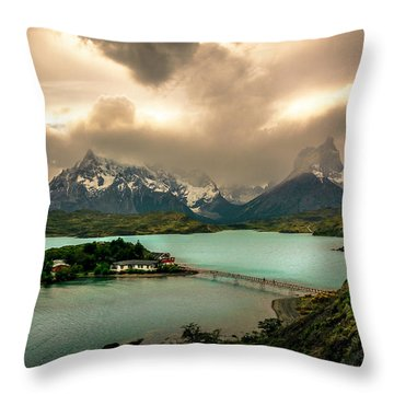 Afternoon Storm Throw Pillow by Andrew Matwijec