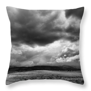 Afternoon Storm Couds Throw Pillow
