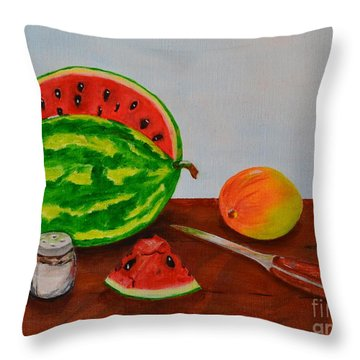 Afternoon Summer Treat Throw Pillow by Melvin Turner