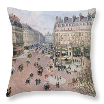 Afternoon Sun In Winter Throw Pillow by Camille Pissarro