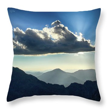 Afternoon Sunburst Throw Pillow by Marie Leslie
