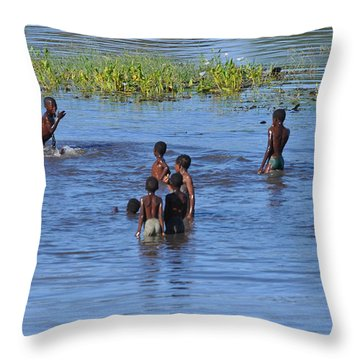 Afternoon Swim Throw Pillow