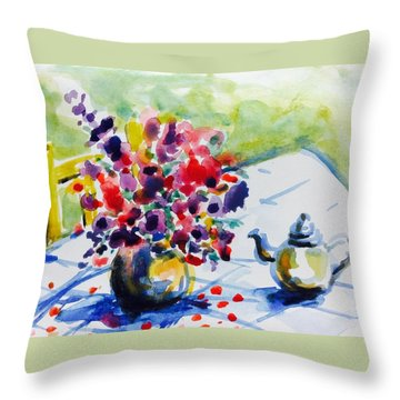 Afternoon Table Throw Pillow by Hae Kim