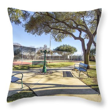 Afternoon Tennis Throw Pillow