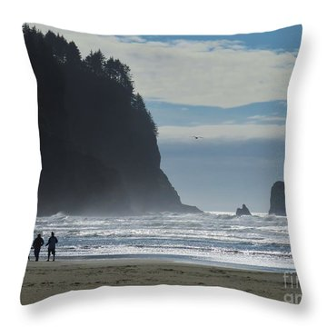 Cape Meares Throw Pillow by Michele Penner