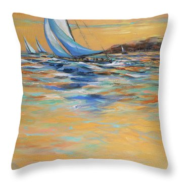 Afternoon Winds Throw Pillow