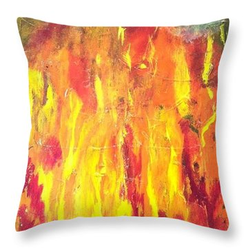 Again Throw Pillow by Bebe Brookman