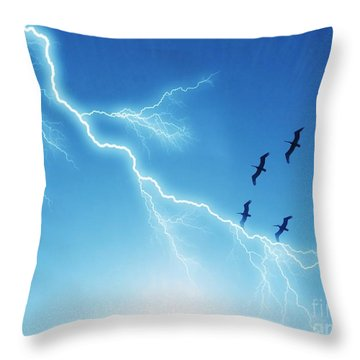 Against All Odds Throw Pillow by Carlos Avila