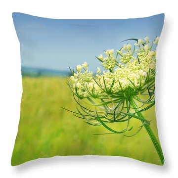 Against The Blue Sky Throw Pillow by Sandra Cunningham