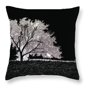 Against The Night Throw Pillow