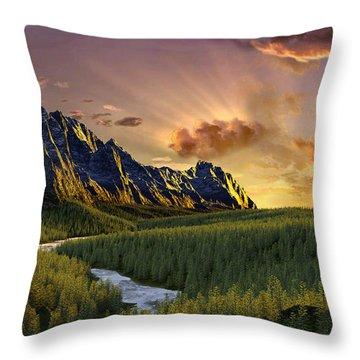 Against The Twilight Sky Throw Pillow
