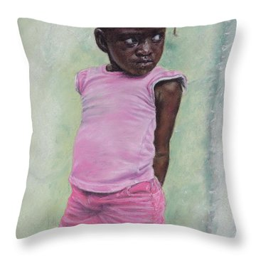 Against The Wall Throw Pillow