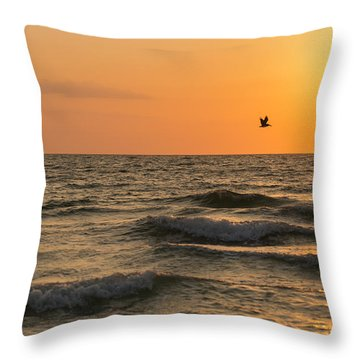 Against The Wind Throw Pillow by Christopher L Thomley