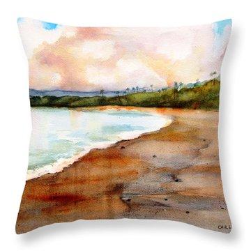 Aganoa Beach Savai'i Throw Pillow