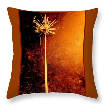 Agapanthus After The Storm Throw Pillow