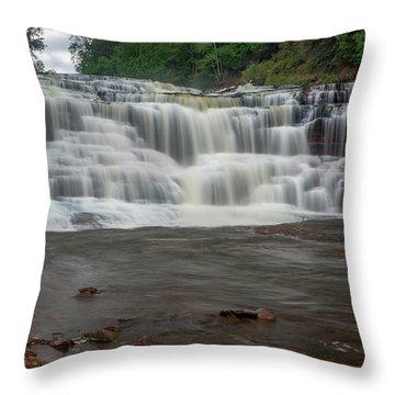 Agate Falls Throw Pillow