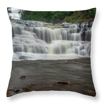 Agate Falls Throw Pillow