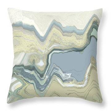 Throw Pillow featuring the digital art Agate by Gina Harrison