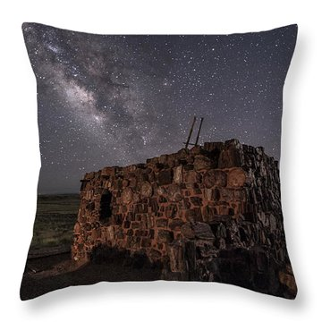 Throw Pillow featuring the photograph Agate House At Night by Melany Sarafis