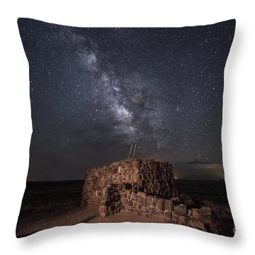 Agate House At Night2 Throw Pillow