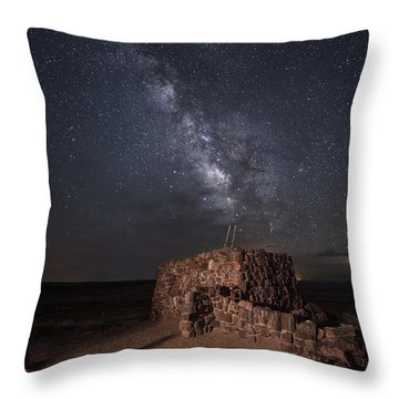 Throw Pillow featuring the photograph Agate House At Night2 by Melany Sarafis