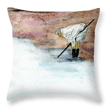 Agate Hunter Throw Pillow by R Kyllo