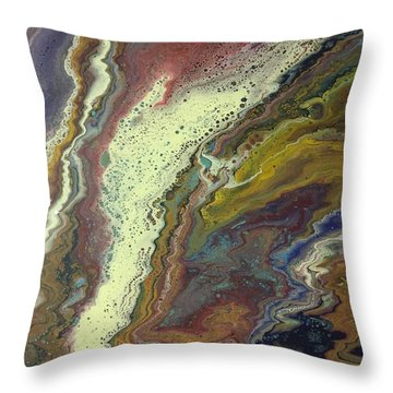 Agate Waterfall Throw Pillow