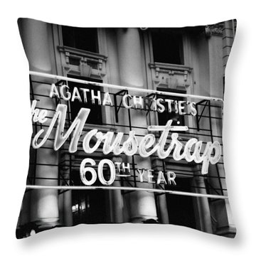 Agatha Christie's The Mouse Trap 60th Anniversary Throw Pillow by Helga Novelli