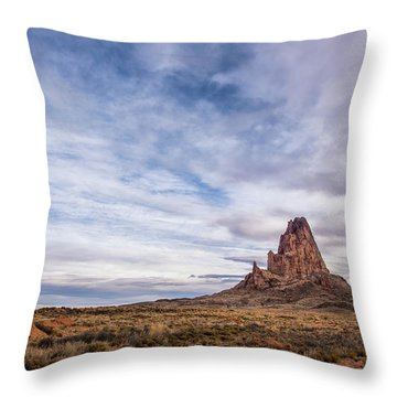 Throw Pillow featuring the photograph Agathla Wakes Up by Jon Glaser