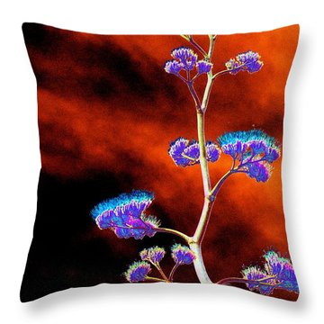 Agave Through Tequila Eyes Throw Pillow