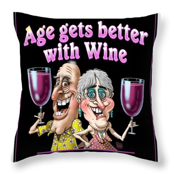 Age Gets Better Couple Throw Pillow