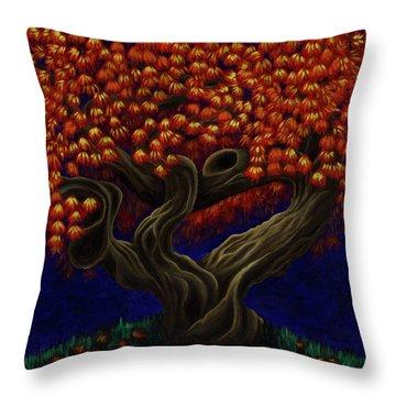 Aged Autumn Throw Pillow