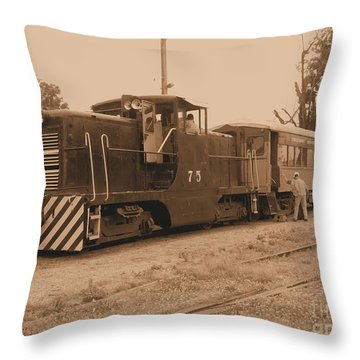 Aged Choo Choo  Throw Pillow