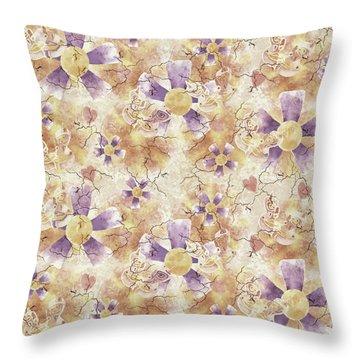 Aged Flower Clown Pattern Throw Pillow