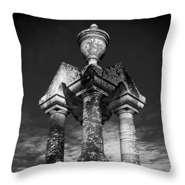 Aged Stone And Sky Throw Pillow