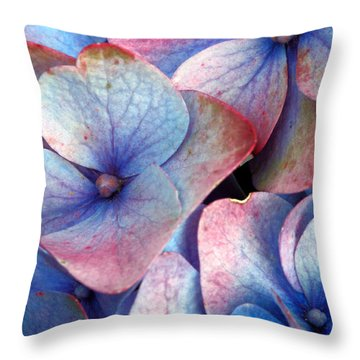 Ageing Hydrangea Throw Pillow by Gaspar Avila